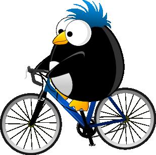 Lenny on a bike